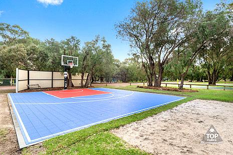 Basketball court in caravan park Gracetown
